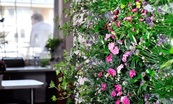 Zielone ściany Pixel Garden