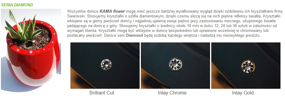 Donice Kama Flower seria Diamond