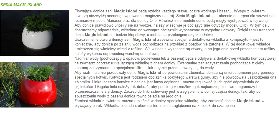 Donice Kama Flower Seria Magic Island